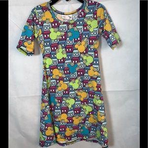 EUC LULAROE Girls size 4 Disney dress short sleeve